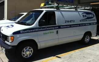 Blue Hawaii Window Cleaning Business Van